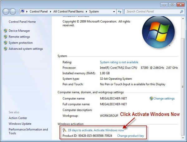 Windows 7 Professional Product Key gratis para usted