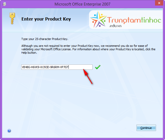 how to  microsoft office 2007 with product key