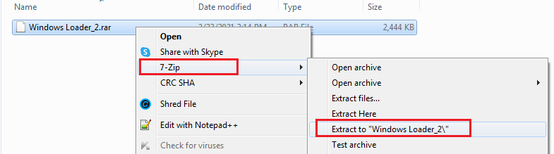 extracr Windows Loader