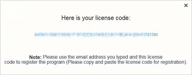 Get your free license code directly