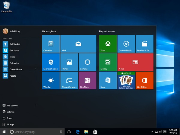 Windows 10 Features Version 1507 1511 1803 1809 1903