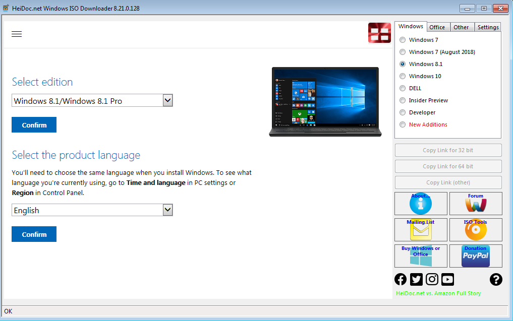 Descarga gratuita de Windows 8 1