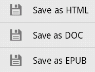 save as html doc